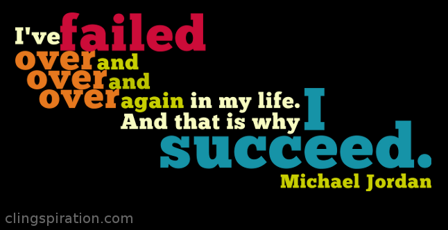 an analysis of the fail to succeed for michael jordan a basketball player Michael jordan, considered one of the greatest basketball players of all time his brief bio on nbacom he is described as 'single-handedly redefining the nba superstar' and yet to get there he openly admits to failing more than most.